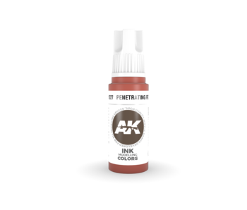 AK Interactive 3rd Gen Acrylic Penetrating Red INK (17ml)