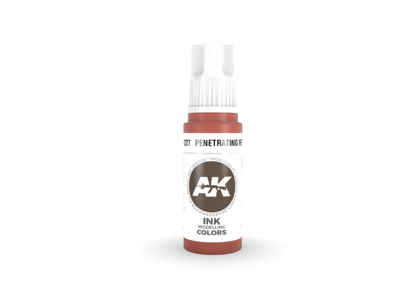 AK Interactive AK Interactive 3rd Gen Acrylic Penetrating Red INK (17ml)