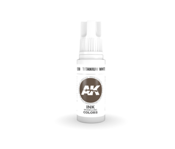 AK Interactive 3rd Gen Acrylic Titanium White INK (17ml)