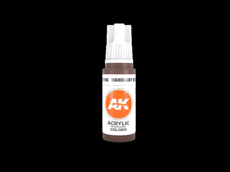 AK Interactive AK Interactive 3rd Gen Acrylic Mahogany Brown (17ml)