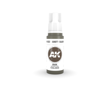 AK Interactive 3rd Gen Acrylic Sooty Black INK (17ml)