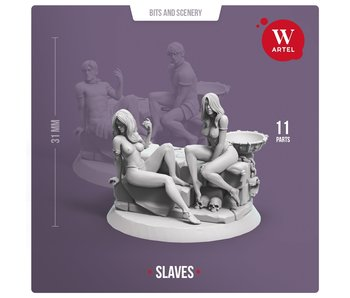 ARTEL Pair of Female Slaves (with scenery)