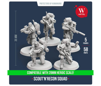 ARTEL Scout and Recon Squad (5 scouts) 28mm scale