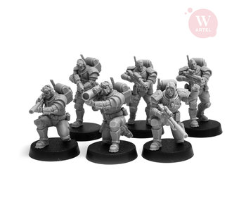 ARTEL Scout and Recon Squad (5 scouts+Heavy Weapon Specialist) 28mm scale