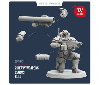 ARTEL Scout and Recon Heavy Weapon Specialist 28mm scale