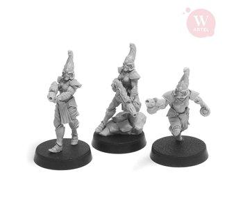 ARTEL Flaming Drakes Female Warriors  (3 warriors)