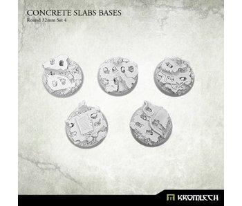 Concrete Slabs Round 32mm Set 4 (5)