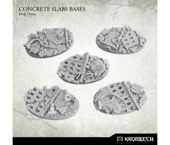 Concrete Slabs Oval 75mm (5)