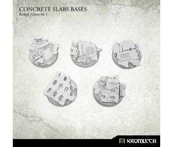 Concrete Slabs Round 32mm Set 1 (5)