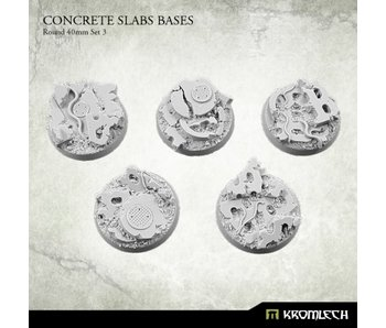 Concrete Slabs Round 40mm Set 3 (5)