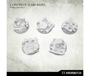 Concrete Slabs Round 32mm Set 2 (5)