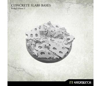 Concrete Slabs Round 60mm [pattern 3] (1)