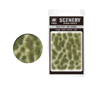 Scenery Diorama Products - Large Wild Tuft Dry Green (SC415)