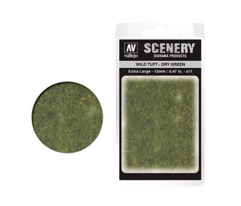 Scenery Diorama Products - Extra Large Wild Tuft Dry Green (SC424)