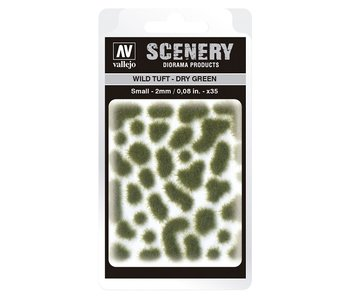 Scenery Diorama Products - Small Wild Tuft Dry Green (SC401)