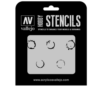 Hobby Stencils - Drum Oil Markings (ST-AFV002)