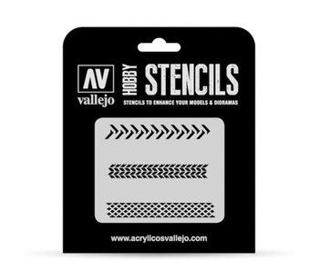 Hobby Stencils - Tyre Markings (ST-TX002)