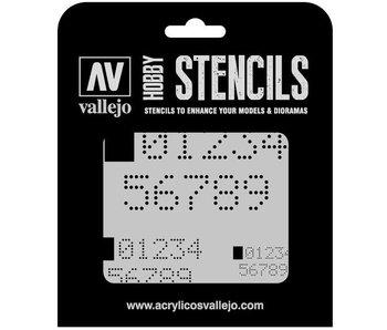 Hobby Stencils - Digital Numbers (ST-SF004)