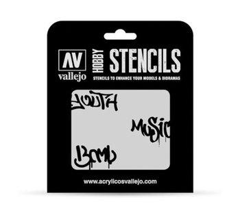 Hobby Stencils - Street Art 1 (ST-LET003)