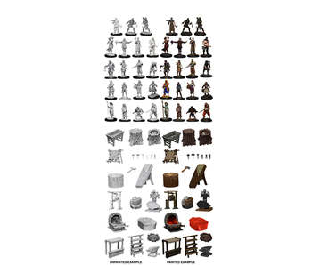 Wizkids Unpainted Minis Townspeople/Accessories