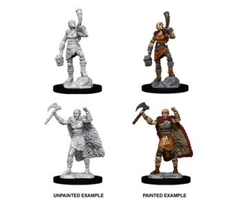 D&D Unpainted Minis Wv12 Female Human Barbarian