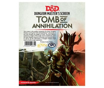 D&D Dungeon Master's Screen - Tomb of Annihilation