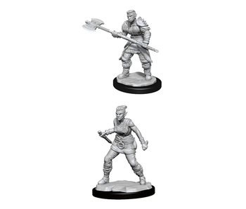 D&D Unpainted Minis Wv13 Orc Barbarian Female (144