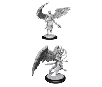 D&D Unpainted Minis Wv13 Deva And Erinyes (144)
