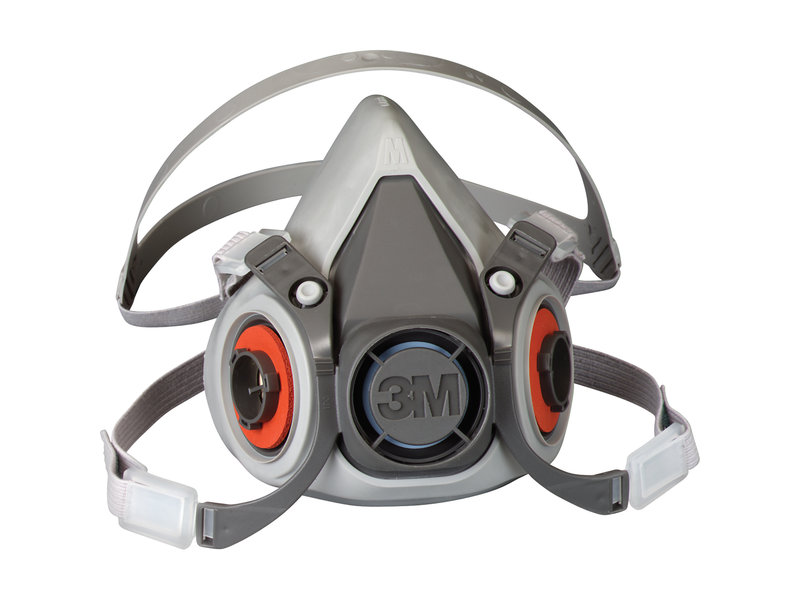 3M 6000 Series Half Facepiece Reusable Respirator Mask (Large)