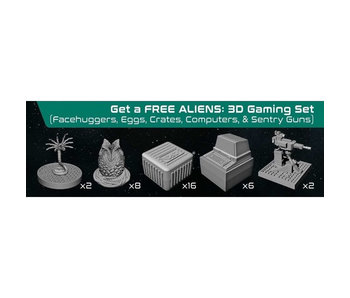 Aliens - Assets and Hazards 3D Gaming Set