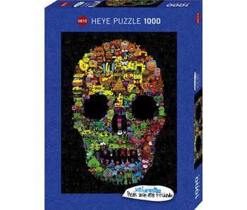 Heye Puzzle 1000 pcs. Doodle Skull