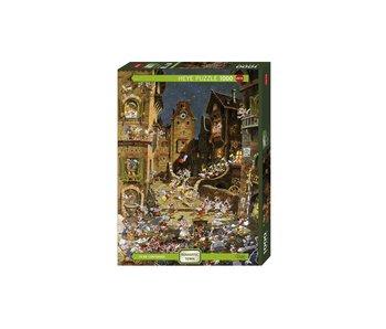 Heye Puzzle 1000 pcs. By Night Romantic Town