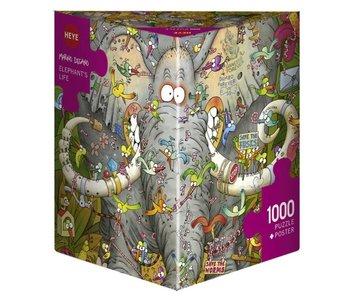 Heye Puzzle 1000 pcs. Elephant's Life Degano
