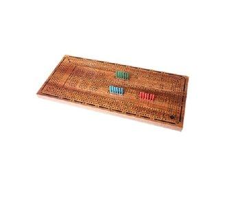 Jeu de Crib en Bois Perpétuel 3 joueurs - 12 punaises en plastique