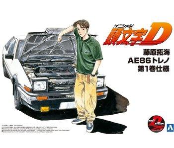 Aoshima 1/24 TAKUMI FUJIWARA 86 TRUENO COMICS VOL.1 VERsion (TOYOTA)