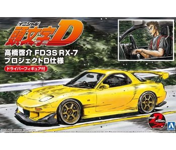 Aoshima 1/24 TAKAHASHI KEISUKE FD3S RX-7 PROJECT D Version with Figure