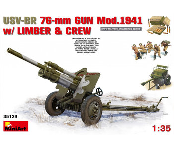 MiniArt USV-BR 76-mm GunMod.1941 with Limber & Crew (1/35)