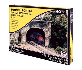 Woodland Scenics Tunnel Portal cut stone - Double (Ho) C1257