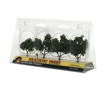 "Woodland Scenics Ready - Medium Green (2""-3"") (4/Pk) TR1504"
