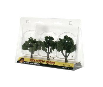 "Woodland Scenics Ready - Medium  Green (3"" - 4"") (3/Pk) TR1507"