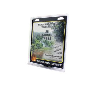 "Woodland Scenics Ready - Mixed Green deciduous (.75"" - 2""),38/Pk TR1570"