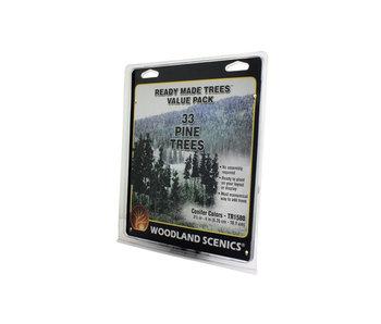 "Woodland Scenics Ready - Conifer Trees (2.5"" - 4"") (33/Pk) TR1580"