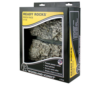 Woodland Scenics Ready Rocks - Rock Face Rocks C1138