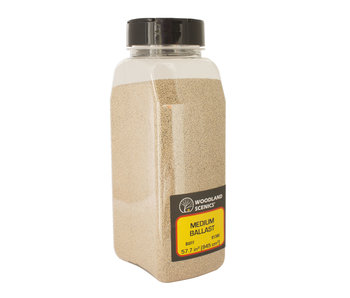 Woodland Scenics Shaker Ballast medium Buff (32 Oz) B1380