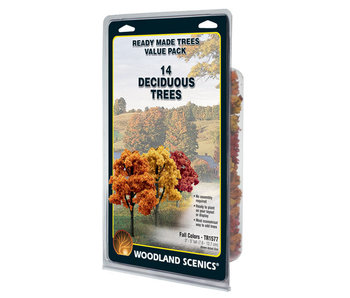 "Woodland Scenics Ready - Fall Colors deciduous (3"" - 5"") (14/Pk) TR1577"