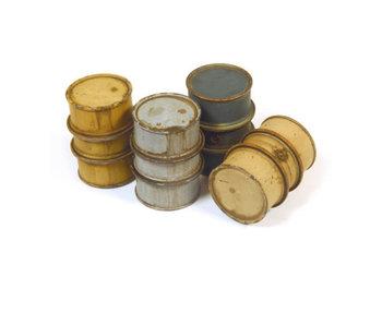 Vallejo German Fuel drums #1 - 4 Pieces (1/35) (SC201)