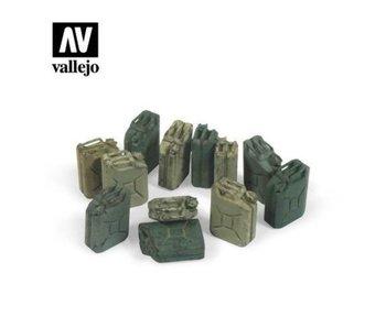 Vallejo German Jerry can set - 12 Pieces (1/35) (SC207)