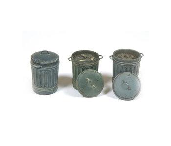 Vallejo Garbage Bins #1 - 3 Pieces (1/35) (SC212)