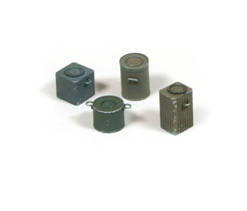 Vallejo Wwii Germanfood Containers - 4 Pcs (1/35) (SC224)