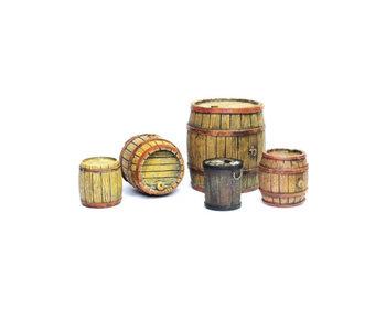 Vallejo Wooden Barrels - 5 Pieces (1/35) (SC225)